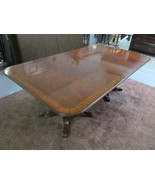 Henredon Aston Court Crotch Mahogany Rectangular Banquet Dining Table 96... - $3,899.00