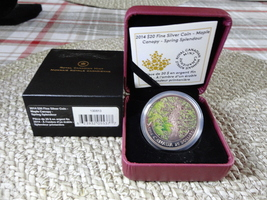 2014 $20 Fine Silver Coin Maple Canopy Spring Splendour - $80.00