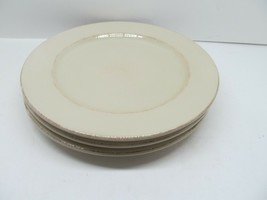 "Pier 1 Toscana Ivory 11"" Dinner Plates Set Of 3 Plates Read Description - $28.42"