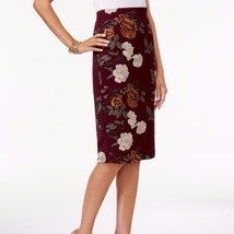 ECI Womens Size 4 Embroidered Floral Plum Purple Pencil Skirt Dress $70 - $19.79