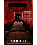United Airlines Kyoto Torii Gates 1990 AD Nonstop Flights to Tokyo Aviat... - $10.99