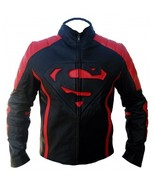 SUPERMAN MOVIE MENS CLASSIC BLACK & RED LEATHER JACKET SM102 - $159.00