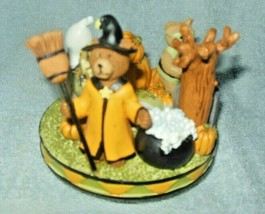 YANKEE CANDLE HALLOWEEN BOO BEARS CANDLE TOPPER MED / LG NEW - $24.99