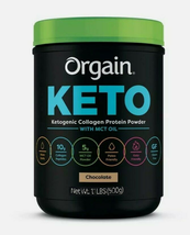 Orgain keto ketogenic collagen protein powder with mct oil chocolate 1.1 lbs 500g  thumb200