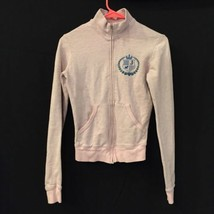 Juicy Couture Pink Jacket Emblem Women's Sz S Hearts Scotty Dog Crown Used  - $23.36