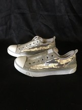 UGG Laela Sparkles Suede / Sequin Shoes / Sneakers, Pale Gold, Size 8, EUC - $63.70