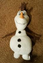 "Disney Frozen Olaf 10"" Plush Stuffed Toy Disney Press 2014 - $12.61"