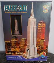"Wrebbit Puzz-3D Empire State Building 902 Pc Puzzle 42""x14""x7"" in Box - $11.18"