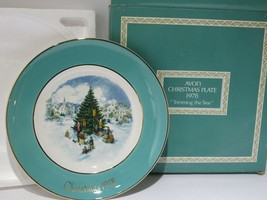 1978 Avon Christmas Plate Series Sixth Edition Trimming the Tree w Box vtg - $16.83
