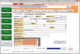 Contact Manager Database Software CRM, Contacts & Leads. Log Tasks, sale... - $5.50