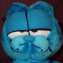 "Garfield Blue Plush Stuffed Animal 22"" Styrofoam Filled - $32.23"
