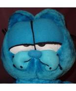 "Garfield Blue Plush Stuffed Animal 22"" Styrofoam Filled - $32.23"