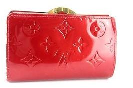 Auth LOUIS VUITTON Vernis leather Porte Monnaie Viennois Kiss Lock Wallet purse - $157.41
