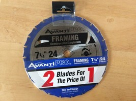 "AVANTI PRO FRAMING CIRCULAR SAW BLADE 2 PC 7-1/4"" 24 teeth new - $17.99"