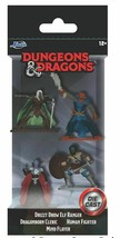 Jada Dungeons & Dragons Drizzt Ranger Cleric Fighter Flayer 4 Figure Die... - $11.99
