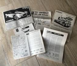 Model Car Instructions Lot Of 7 AMT Revell MPC Monogram Ertl Vintage (5167) - $6.21