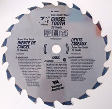 "Vermont American 26463 7-1/4"" x 20 Teeth Fine Tooth Steel Chisel Tooth Blade USA - $6.93"