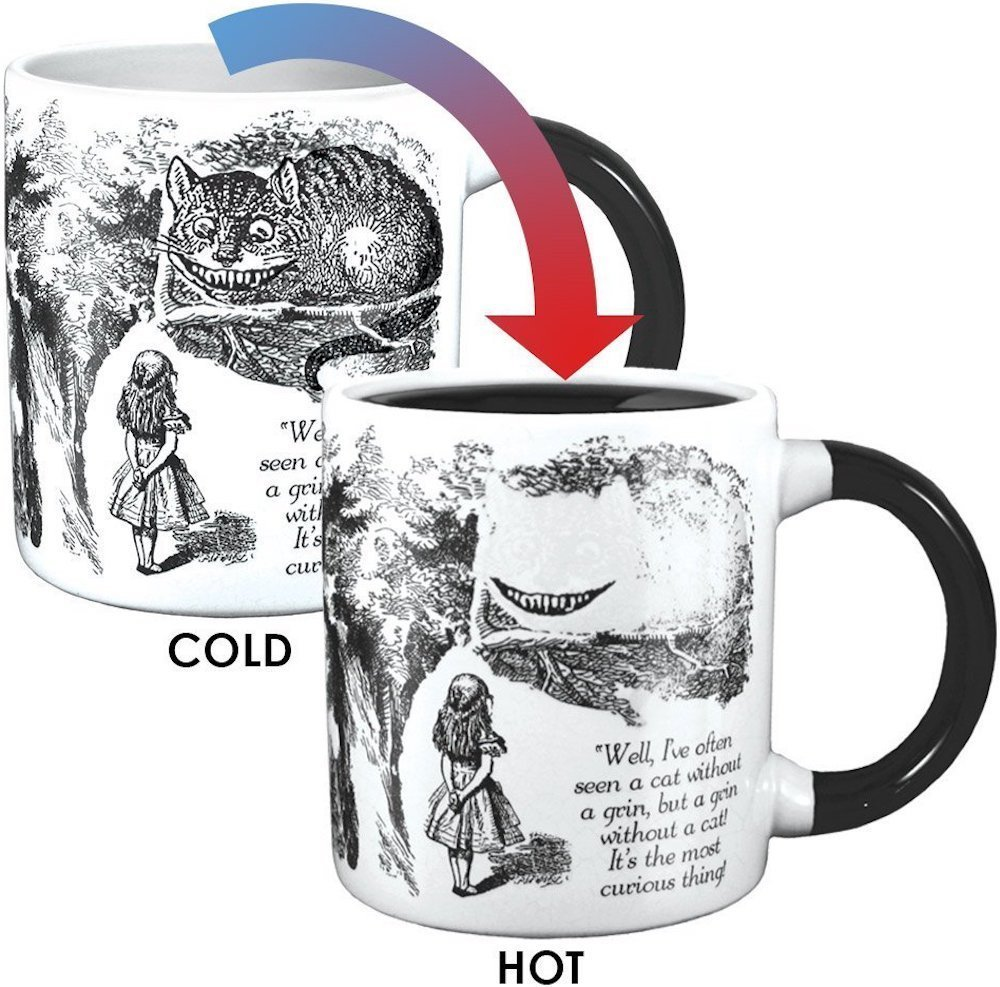 Alice in wonderland mug cold hot
