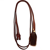 Quick Change Harness Leather Western Show Split Reins Shu Fly Horsehair ... - $139.99