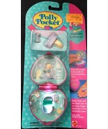 Vintage Polly Pocket Bath time Fun Ring NEW SEALED MOC 1994 Pink Heart C... - $158.39