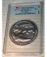 2017 AMERICA THE BEAUTIFUL First Strike EFFIGY MOUNDS PCGS SP 70 5oz Sil... - $434.78