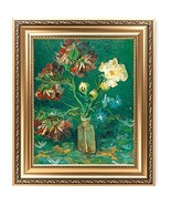 IPIC - Small Bottle with Peonies and Blue Delphiniums, Vincent Van Gogh ... - $89.09