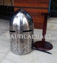 NauticalMart Renaissance Armor Sugarloaf Medieval Helmet with Wooden Stand - $142.10