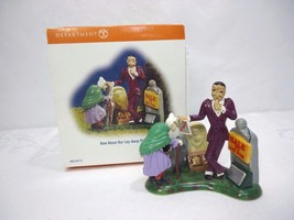 """DEPT 56 Snow Village Halloween Accessory """"How About Our Layaway Plan"""" Ce... - $7.66"""