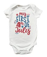 My First 4th of July Shirt, 4th of July Shirt for Girls, First 4th of Ju... - $11.99