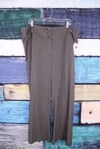 Lane Bryant Gray Striped Stretch Trouser Leg Dress Pants Plus 22 Office ... - $29.69