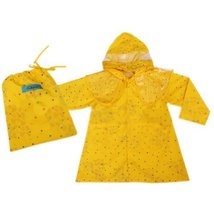 BLING STARSToddler Rain Wear Cute Baby Rain Jacket Infant Raincoat YELLOW S 2Y