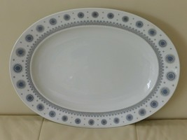 ROSENTHAL TAPIO WIRKKALA ICE BLOSSOM 1960S LARGE OVAL SERVING PLATTER 15... - $44.00