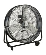 """NEW 24"""" High Velocity Industrial Fan 2-Speed Drum Portable Handle Wheels... - $119.99"""