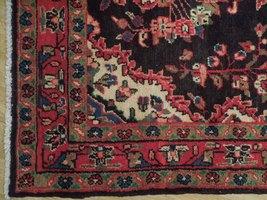 Tribal Wide Gallery Runner Persian Genuine Handmade 4x10 Black Sarouk Wool Rug image 7