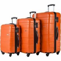 Merax Afuture 3 Piece Luggage Lightweight Spinners Orange Telescoping ha... - $125.00