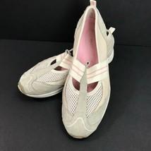 Easy Spirit Es7avena Leather Dive Gray Beige SlipOn Sneaker Sporting Sho... - $32.87 CAD
