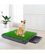 Dog Potty Training Grass Artificial Pad Puppy Loo Pee Mat Portable Tray Indoor - $36.53