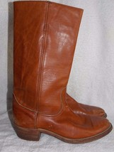 Frye 9K21032 CAMPUS Leather Brown Pull On Boots 8.5D Used - $79.19