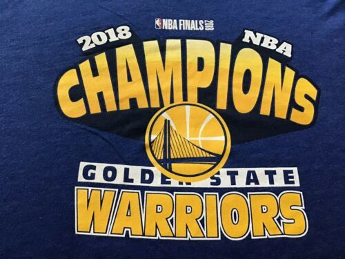 NBA Official 2018 Champion T-shirt '47 Brand Size L NEW Free Shipping Warriors image 2