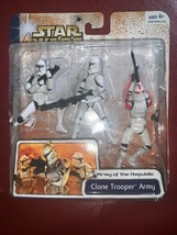STAR WARS CLONE TROOPER ARMY Clone Wars Figures Red Variant MOC COMPLETE... - $44.54