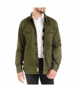 Jachs Mens Shirt Jacket Green Olive Army Flannel Lined CPO Big & Tall Sizes - $44.99+
