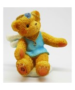 Cherished Teddies Birthstone Angel on a Cloud - April - Collectible Boxed - $9.85