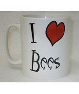 I Heart Bees Mug Can Personalise Funny Animal Love Keeper Honey Bumble B... - $9.23