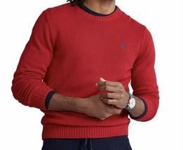 Polo Ralph Lauren Mens Red Crew Neck Long Sleeve Pony Logo Cotton Sweater M - $85.00