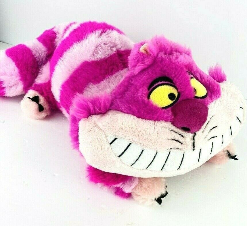 Primary image for Disney Store Alice In Wonderland Cheshire Cat Plush Pink Kitty Stuffed Animal