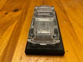1959 CORVETTE GLASS CRYSTAL CORVETTE MODEL with STAND HOFBAUER WEST GERMANY image 2
