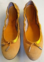 $495 TOD'S Women's Yellow Gold Ballerina Ballet Flats Shoe Tods 38 Tasse... - $44.55