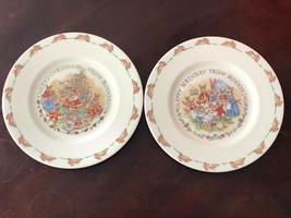 Royal Doulton Plates (2) Happy Birthday and Merry Christmas Bunnykins - $19.80
