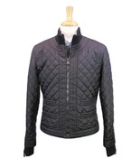 * CHANEL * Black Diamond Quilted Bomber Moto Biker Slim Fit Jacket 36/Small - $1,750.00