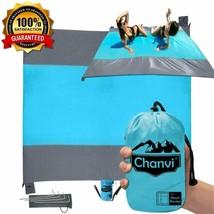 Chanvi Large Beach Blanket Handy Sand Mat- Extra Size 9' x 10' Holds 7 s... - $768,90 MXN